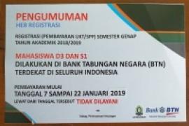 PENGUMUMAN HER REGISTRASI SMT GENAP TA 2018-2019